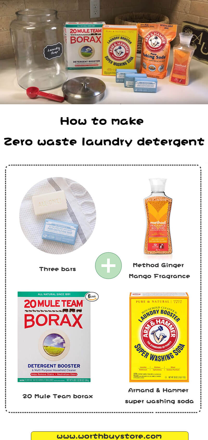 How to make Zero waste laundry detergent