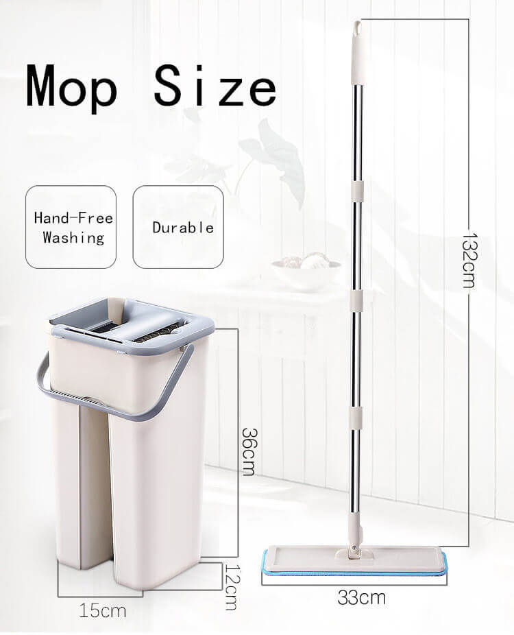 Self-Wringing Mop With Bucket