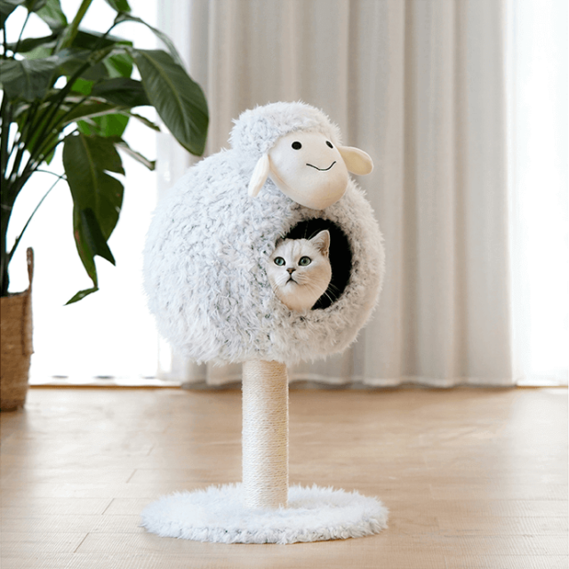 Sheep-Shaped Cat Climbing Frame Cat Bed Cat Nest