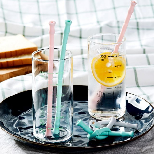 Collapsible Silicone Straw