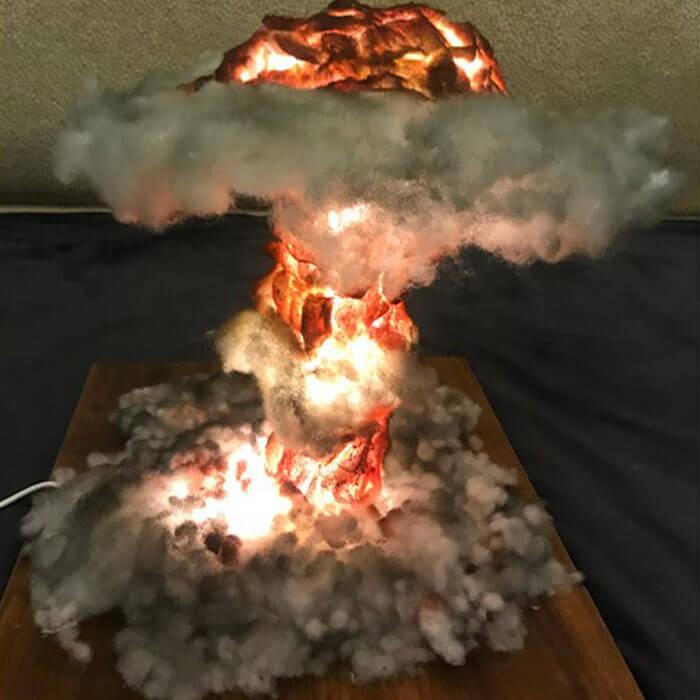 Mushroom Cloud Lamp