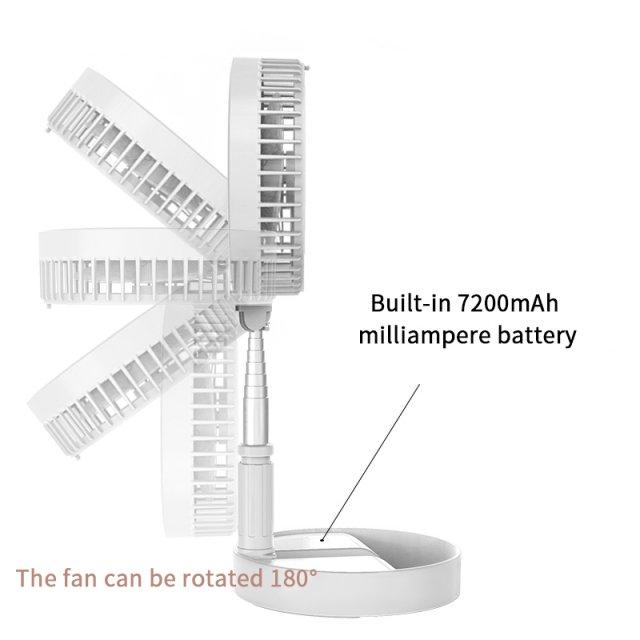 Folding Portable Telescopic Floor/USB Desk Fan