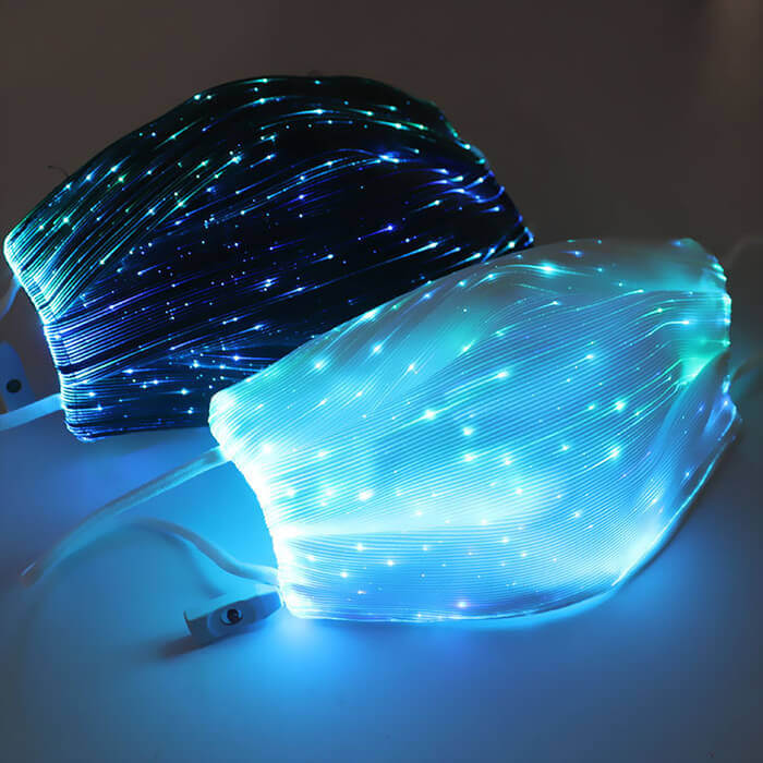 7 Color Lights LED Light up Face Mask