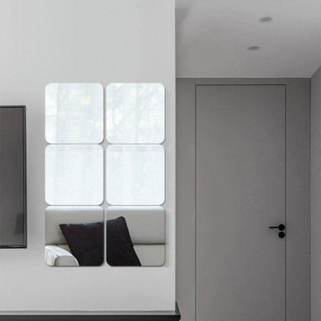 Frameless Self Adhesive Mirror Tiles