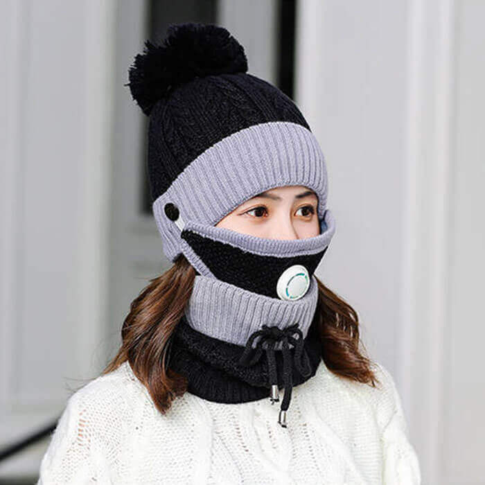 3-IN-1 Crochet Hat Scarf and Mask