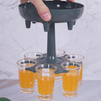 6 Shot Liquor Shot Dispenser and Holder