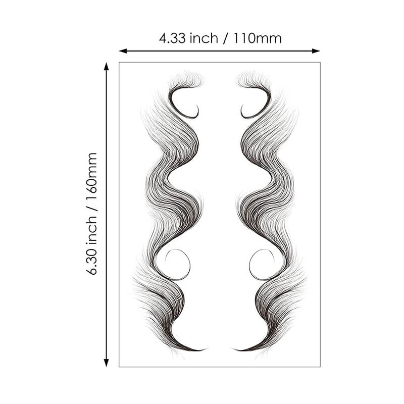 Temporary Tattoo Edges Hair ( 2PCS )